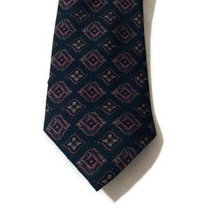 Hardy Amies London Geometric Print Tie